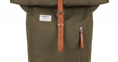 Foto goedkope Sandqvist Dante Rugzak - Olive with Cognac Brown Leather